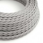 Snoet tekstilledning i viskose - TM02 Sølv
