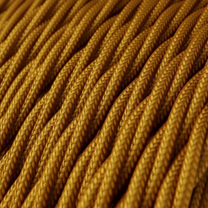 Snoet tekstilledning i viskose - TM05 Guld