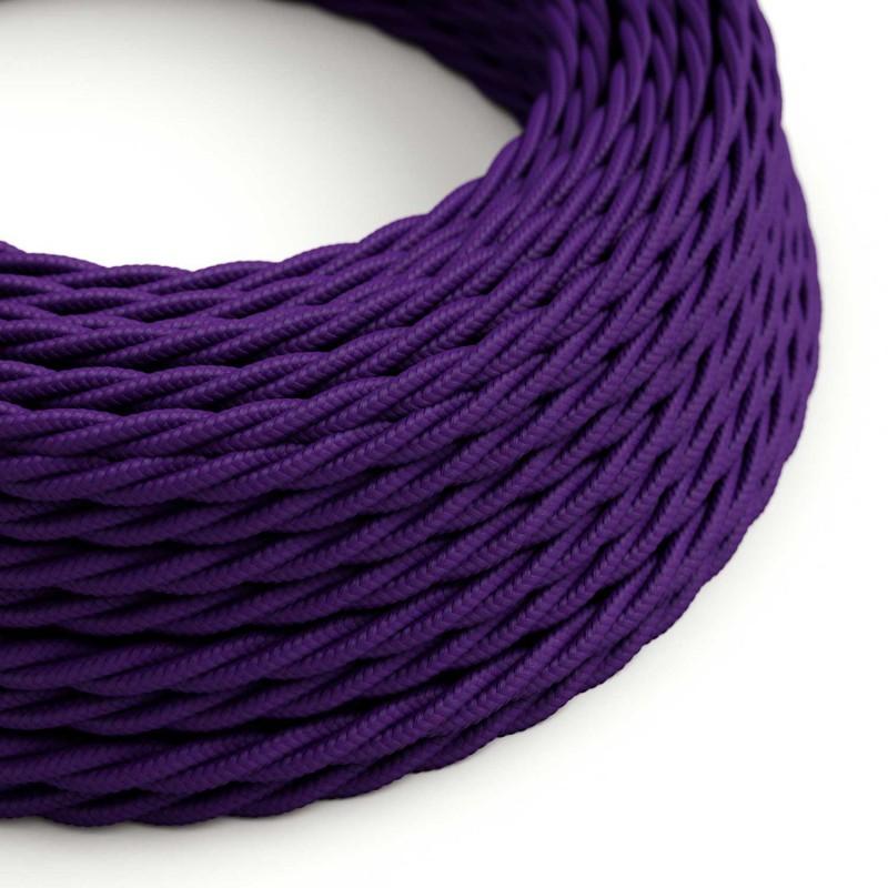 Snoet tekstilledning i viskose - TM14 Violet