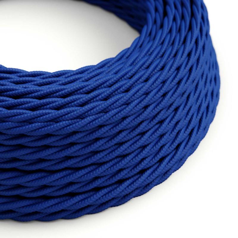 Snoet tekstilledning i viskose - TM12 Blå