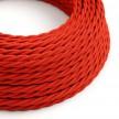 Snoet tekstilledning i viskose - TM09 Rød