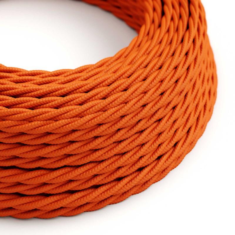 Snoet tekstilledning i viskose - TM15 Orange