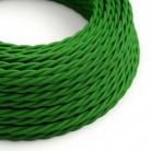 Snoet tekstilledning i viskose - TM06 Grøn