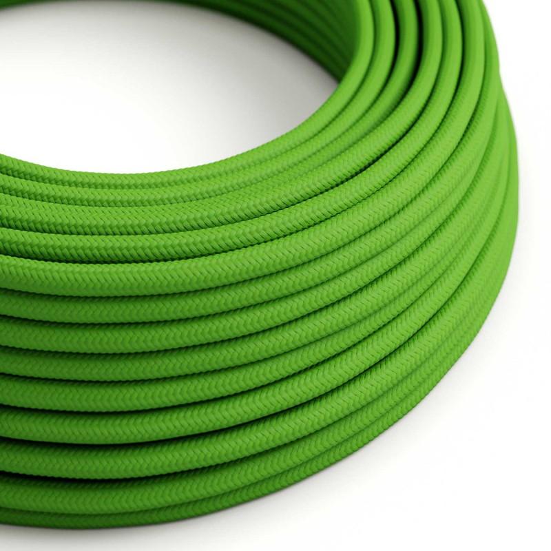 Rund tekstilledning i viskose - RM18 Grøn Lime