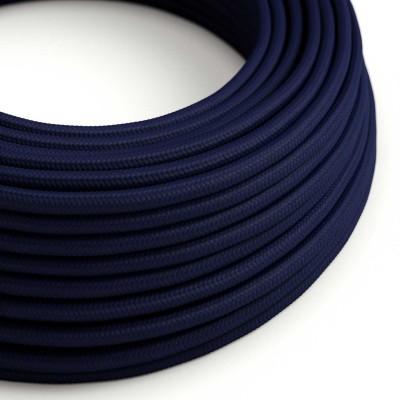 Rund tekstilledning i viskose - RM20 Mørkeblå