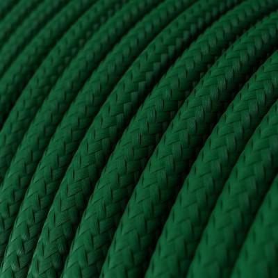 Rund tekstilledning i viskose - RM21 Mørkegrøn