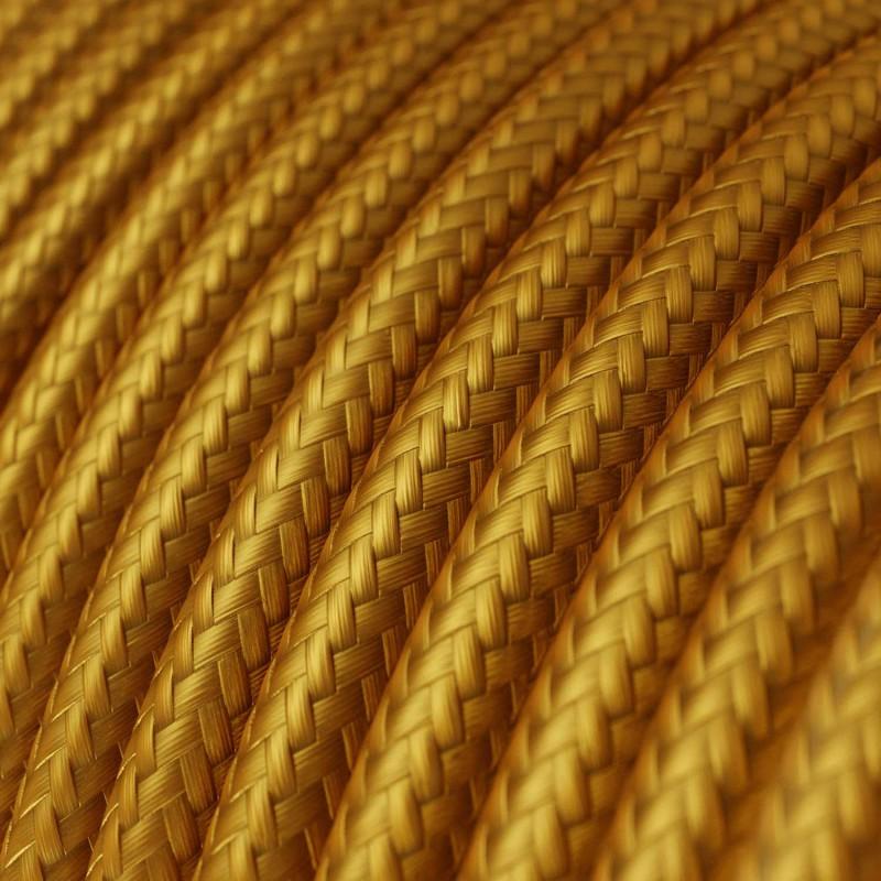 Rund tekstilledning i viskose - RM05 Guld