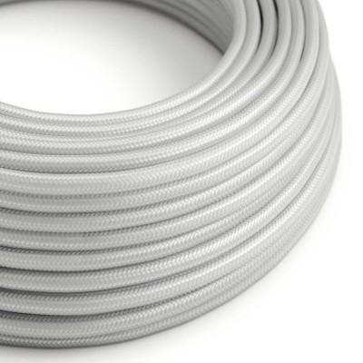 Rund tekstilledning i viskose - RM02 Sølv