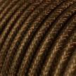 Rund glimmer tekstilledning i viskose - RL13 Brun