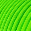 Rund tekstilledning i viskose - RF06 Fluo Grøn