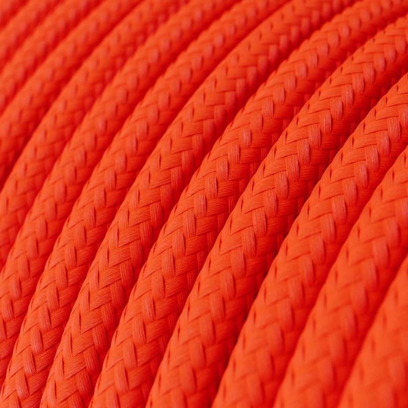 Rund tekstilledning i viskose - RF15 Fluo Orange
