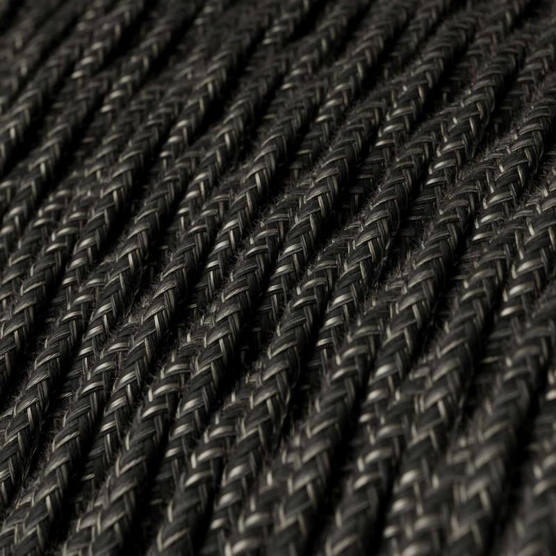 Snoet tekstilledning i Naturlig Antracit hør - TN03