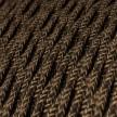 Snoet tekstilledning i Naturlig Brun hør - TN04