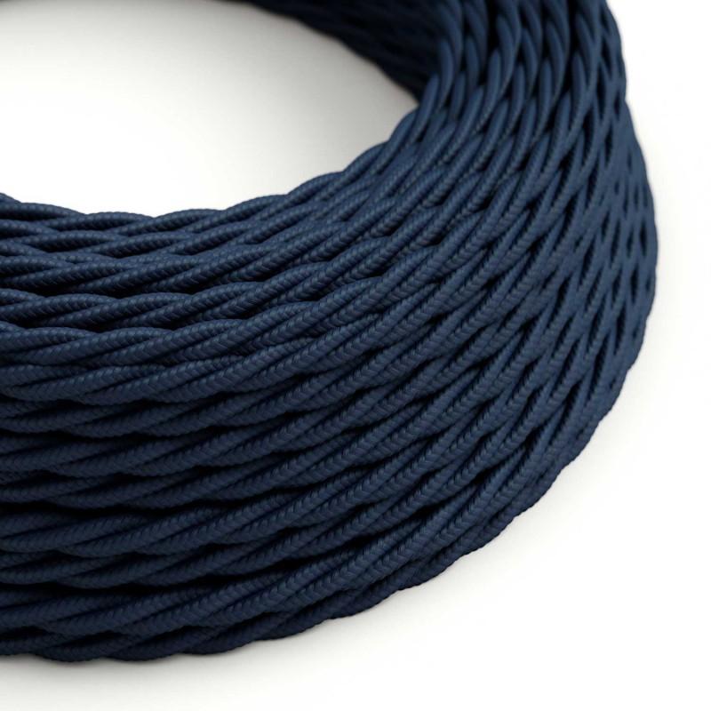 Snoet tekstilledning i Viskose/Kunstsilke - TM20 Mørkeblå