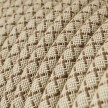 Rund tekstilledning i Farvet Bark Lozanga bomuld og hør - RD63