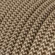 Rund tekstilledning i Farvet Bark Lozanga ZigZag bomuld og hør - RD73