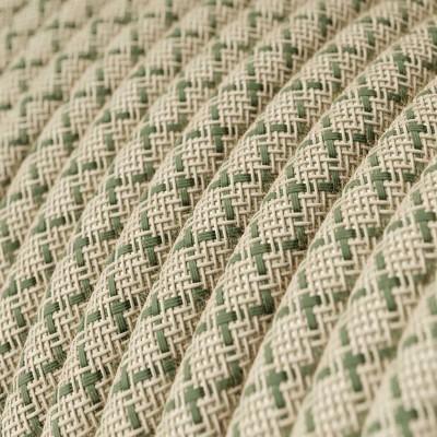 Rund tekstilledning i Timiangrøn Lozenge bomuld og hør - RD62