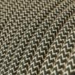 Rund tekstilledning i Antracit ZigZag bomuld og hør - RD74