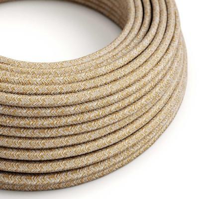 Rund tekstilledning i Russet Tweed bomuld, hør og glimmer finish - RS82