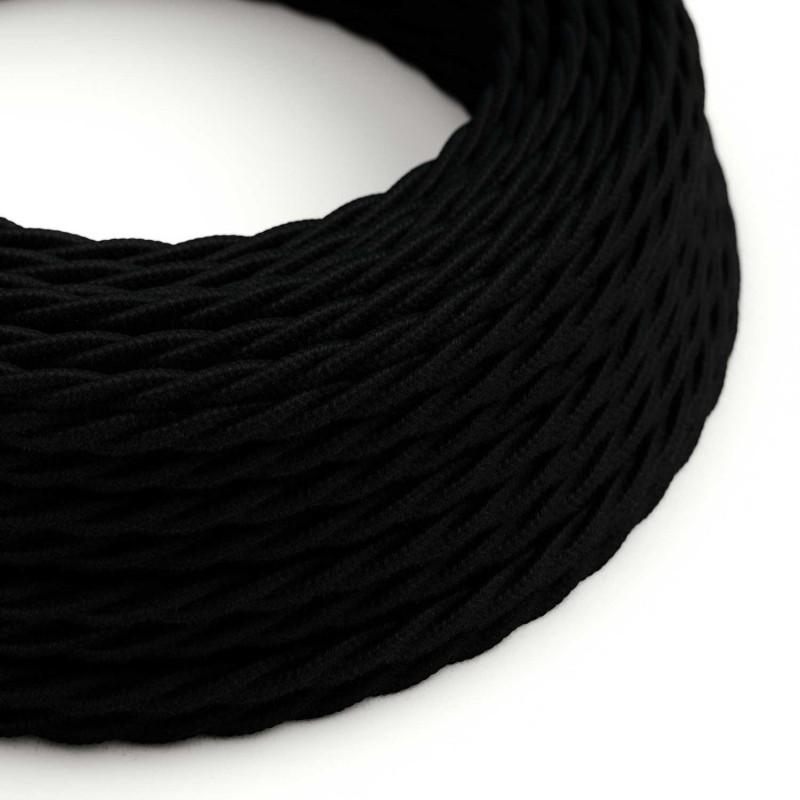 Snoet tekstilledning i bomuld - TC04 Sort