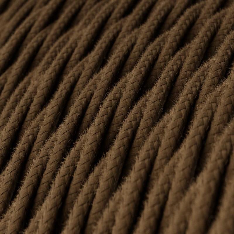 Snoet tekstilledning i bomuld - TC13 Brun