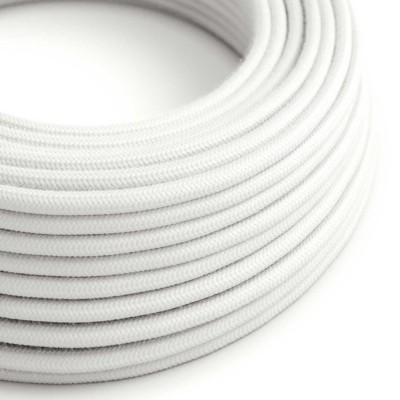 Rund tekstilledning i bomuld - RC01 Hvid