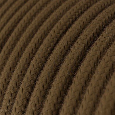 Rund tekstilledning i bomuld - RC13 Brun