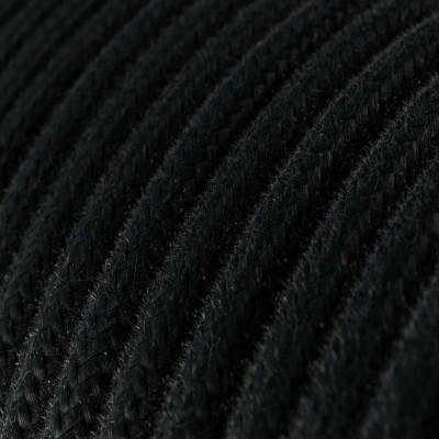 Rund tekstilledning i bomuld - RC04 Sort