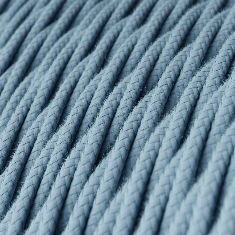 Snoet tekstilledning i bomuld - TC53 Hav