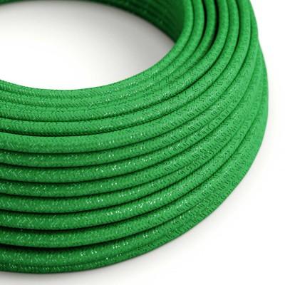 Rund glinsende tekstilledning i viskose - RL06 Grøn