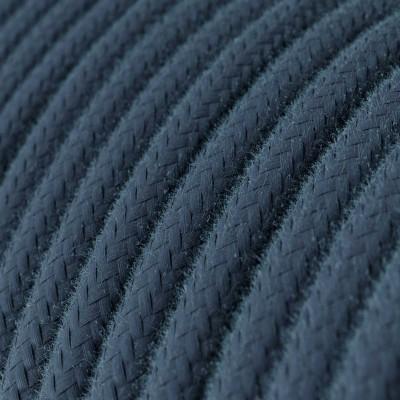 Rund tekstilledning i bomuld - RC30 Stengrå