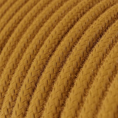 Rund tekstilledning i bomuld - RC31 Gylden Honning
