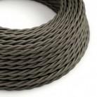 Snoet tekstilledning i viskose - TM26 Mørkegrå