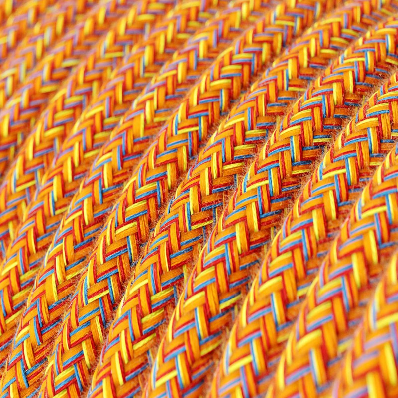 Rund tekstilledning i bomuld - RX07 Indian Summer