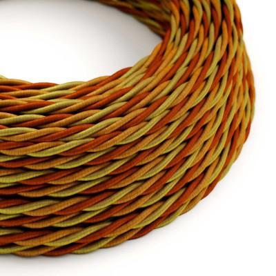 Tekstilledning i snoet viskose - Orange TG04