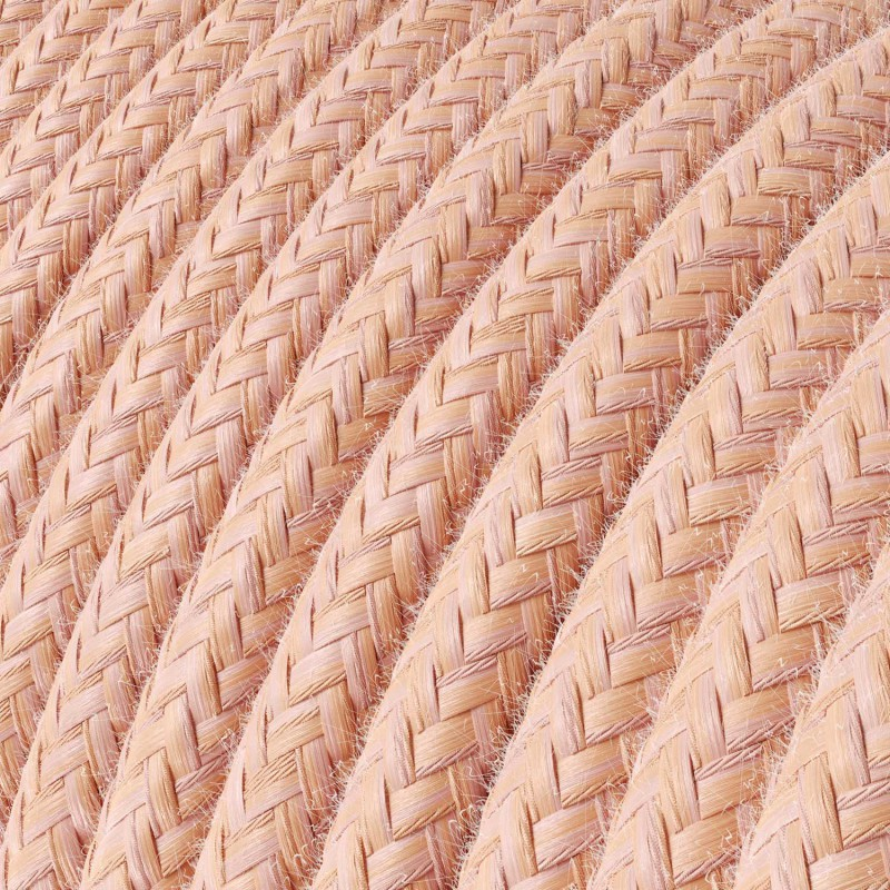 Rund stofledning i bomuld - Laks RX13