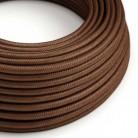 Rund tekstilledning i viskose - RM36 Rust