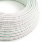 Rund, glitrende stofledning kabel dækket med viskosestof RL00 Unicorn