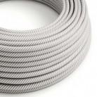 Rund stofledning Vertigo HD Hvid og Aluminium, ERM46