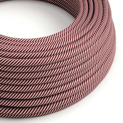 Rund stofledning Vertigo HD Pink og Maroon, ERM47
