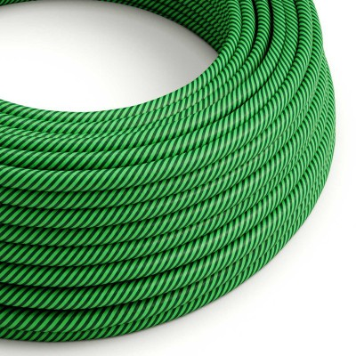 Rund stofledning Vertigo HD Kiwi og Mørkegrøn, ERM48
