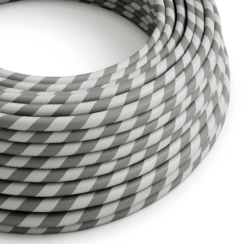 Rund stofledning Vertigo HD Sølv og Grå, ERM55