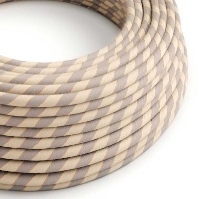 Rund stofledning Vertigo i bomuld og jute med kobbertråd, ERR05