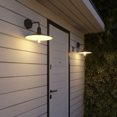 Fermaluce EIVA for lampshade with L-shaped extension, ceiling rose and lamp holder IP65 waterproof