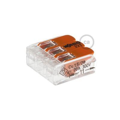 3 poles Transparent Universal Splicing Connectors