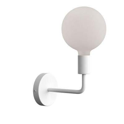 Fermaluce Metal, metal wall light with bent extension