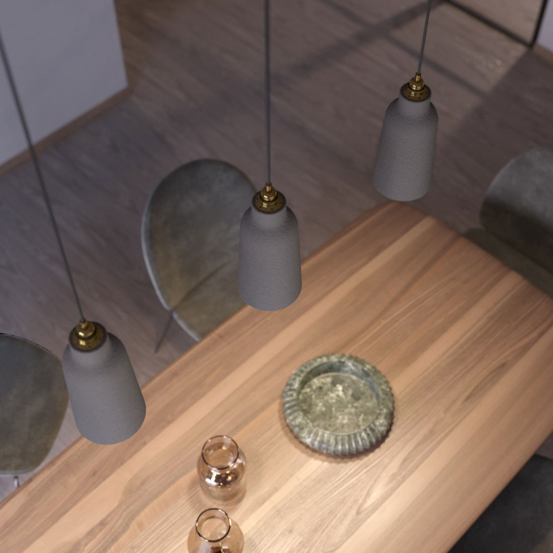 Ceramic lampshade Bottle, Materia collection - Made in Italy