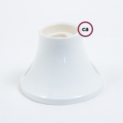 90° thermoplastic wall or ceiling lamp holder
