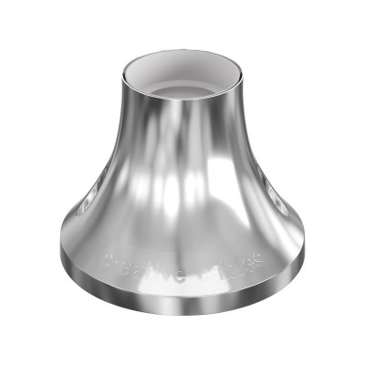 Metallic E27 wall or ceiling lampholder