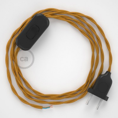 Ledningssæt, TM05 Guld Viskose 1,80 m. Vælg farve på kontakt og stik.
